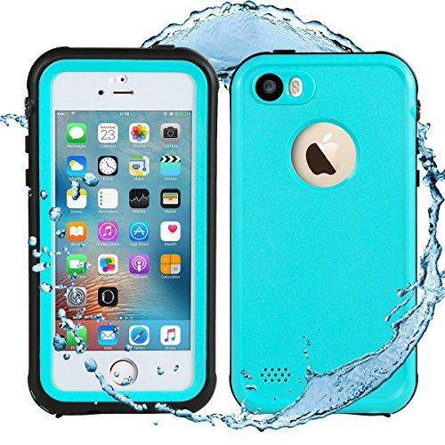 iPhone SE Waterproof Case, Waterproof iPhone 5S Case, eFond IP68 Certified Shockproof Durable Slim Fit Full Body Case for iPhone 5 5S SE [Grass Blue] (Anti Scratch Function Protects compare prices)