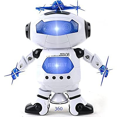 Kidsthrill Dancing Robot -Musical And Colorful Flashing Lights Kids Fun Toy Figure - Spins And Side Steps by Kidsthrill