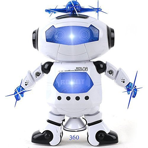 Kidsthrill-Dancing-Robot-Musical-And-Colorful-Flashing-Lights-Kids-Fun-Toy-Figure--Spins-And-Side-Steps