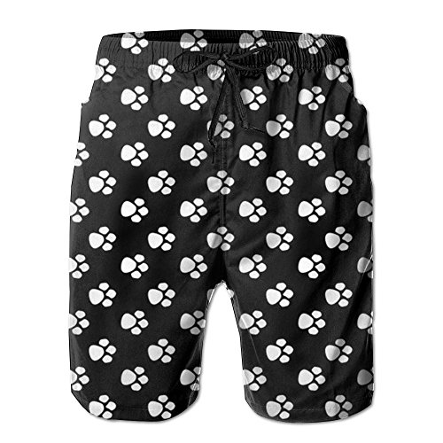 Dog Paw Mens Fashion Quick Drying And Breathable Boardshorts Loose Fit With Liner Surf Trunks With Pockets For Surf Running Swimming Watershort