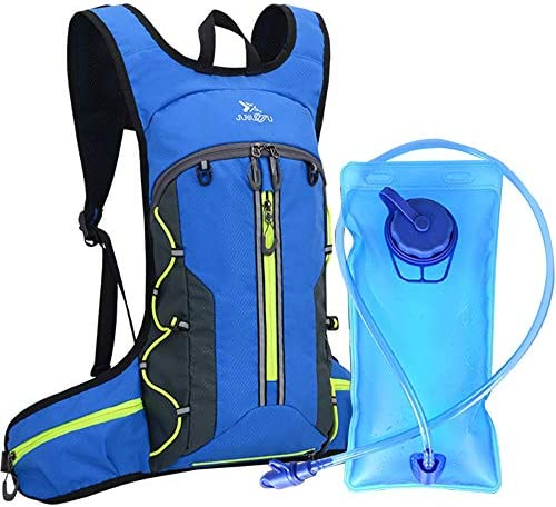 Mixi Hydration Backpack Pack Water Backpack with 2L Water Bladder Perfect for Running Cycling Hiking Climbing Pouch with Storage Bag