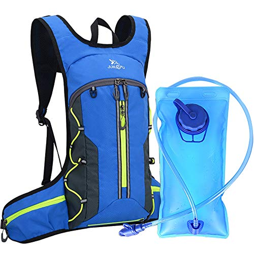 Mixi Hydration Backpack Pack Water Backpack with 2L Water Bladder Perfect for Running Cycling Hiking Climbing Pouch with Storage Bag (Best Hydration Pack For Ocr)