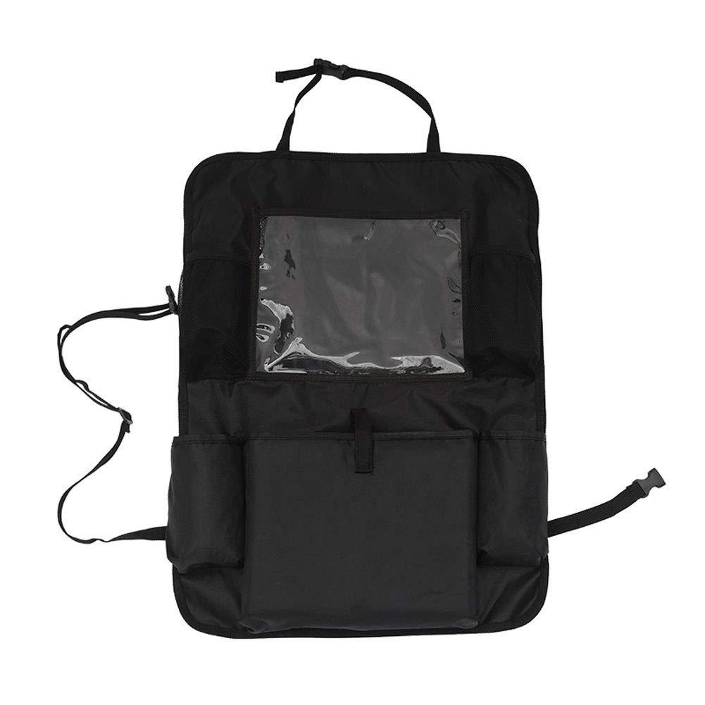 LONG Multifunctional Car Seat Back Bag Car Hanging Bag Car Storage Storage Bag Creative Car Supplies,Black,twopiece