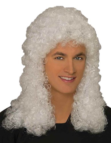 Forum Novelties Men's Adult Judge Costume Wig, White, One Size -