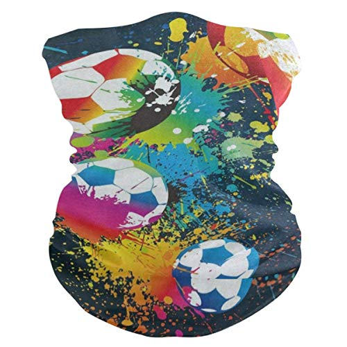 Colorful Football Soccer Colored Headband Womens Bandana Mens Balaclava,Neck Warmer,Face Mask,Sweatband Wristband