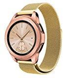CSSD Stainless Steel Replacement Watch Strap for Samsung Galaxy Watch 42mm, Smart Watch Accessories Luxurious Magnet Lock Bracelet Watch Strap Band for Women Men (One Size, Gold)