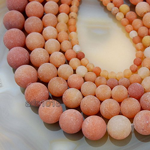 Aventurine Gemstone Red (Natural Matte Gemstone Round Spacer Beads (10mm, Red Aventurine))