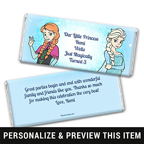 Frozen Themed Birthday Party Favors Candy Bar Wrappers (25 Wrappers) -