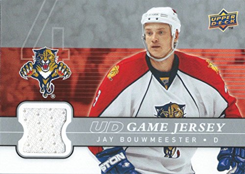 (HCW) 2008-09 Upper Deck Game Jersey JAY BOUWMEESTER NHL Hockey 01226