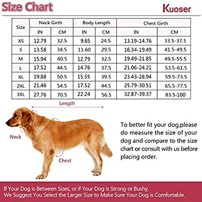 Kuoser Cozy Waterproof Windproof Reversible British Style Plaid Dog Vest Winter Coat Warm Dog Apparel Cold Weather Dog Jacket Small Medium Large Dogs Furry Collar (XS - 3XL),Beige L