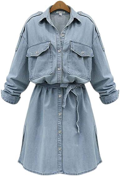 Vestiti Cerimonia Oversize.Laikete Vestito Jeans Taglie Forti Donna Cerimonia Elegante Scollo