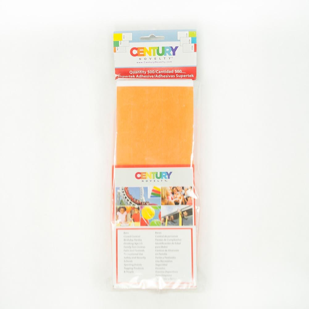 500 Orange Tyvek Security Wristbands