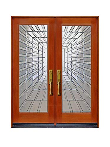 2 36x80 Front Double Door Exterior Entry Mahagony Wood