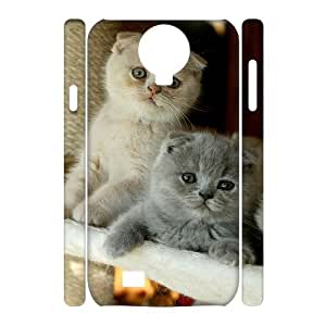 AKERCY Scottish Fold Cat Phone 3D Case For Samsung Galaxy S4 i9500 [Pattern-5]