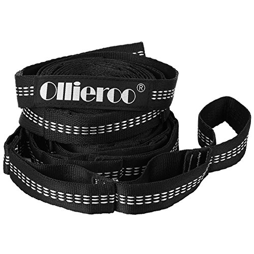 Ollieroo Hammock Straps Hammock Tree Straps 100% No Stretch Suspension System Kit Camping Hammock Security Accessories