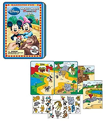 Amazon Com Magnetic Fun Mickey Mouse Magnetic Zoo Toys Games