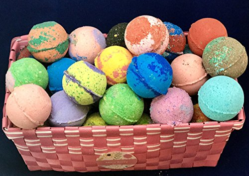 Sale! 100 Lush Inspired Bath Bomb Fizzy Assorted Wholesale lot; All Natural Ingredients and Home Made with Texas Size Love. by MaryBerrySoaps