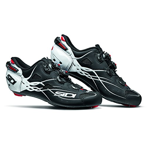 ネコシャークカップSIDI(シディ) SHOT(ショット) Road Cycling Shoes - Matt Black/White [並行輸入品]