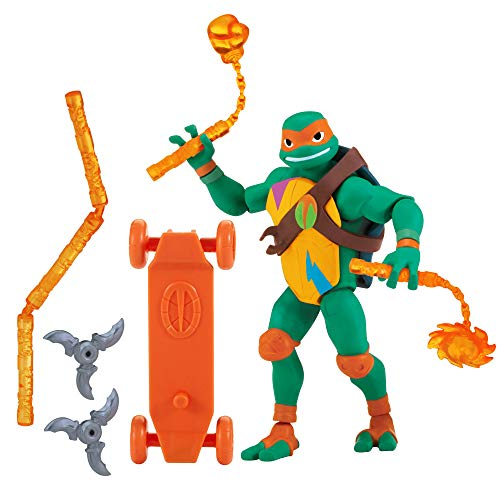 Rise of the Teenage Mutant Ninja Turtles Michelangelo Basic Figure ()