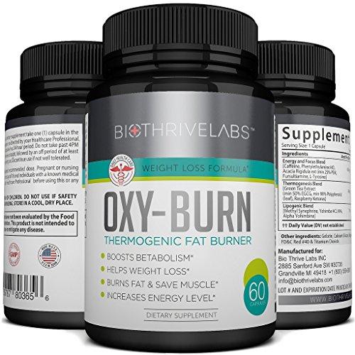 OXY-combustion thermogénique supplément Pills - 60 Capsules de brûleur de graisse extrême - meilleur métabolisme Booster pour perdre du poids rapidement. Donne de multiples bienfaits pour la santé : Devenir plus mince, plus fort et vivre plus longtemps