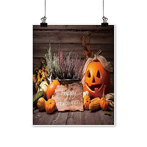 Home Decor Halloween Still Life Pumpkins Halloween Holiday Text Art Wall Art for Room,16