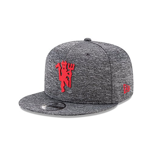New Era 9Fifty Officially Licensed Manchester United F.C. Soccer League Club Red Devil Gray Jersey Fitted Snapback Cap (Medium/Large)