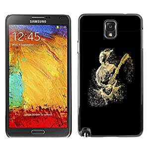 GagaDesign Phone Accessories: Hard Case Cover for Samsung Galaxy Note 3 - Abstract Guitar Player by lolosakes