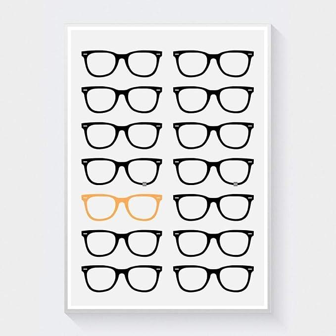 Gafas de dibujos animados marco lienzo arte pintura sala de ...