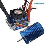Hobbypower 60A ESC Brushless Speed Controller +Hobbypower 9T 4400KV Brushless Motor for 1/10 1/12 RC Car[Ship from USA]