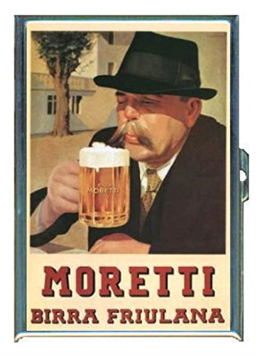 moretti-italian-beer-vintage-ad-stainless-steel-id-or-cigarettes-case-king-size-or-100mm