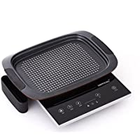 Happycall IH Electric Range Single burner Cooktop Ceramic 220V with IH Grill pan Drip pan Diamond DNC5 & Exclusive Simple English Users Manual