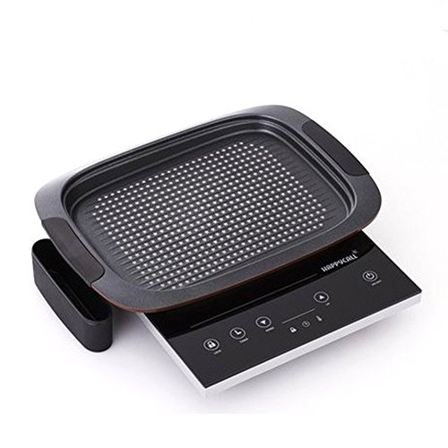 Pan 220v (Happycall IH Electric Range Single burner Cooktop Ceramic 220V with IH Grill pan Drip pan Diamond DNC5 & Exclusive Simple English User's Manual)