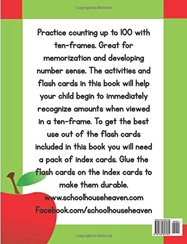 Kindergarten Ten-Frame Counting Workbook: With Cut-Out Flash Cards ...