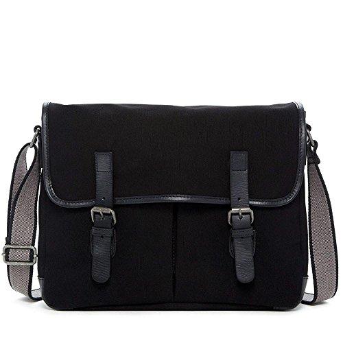 Jack Georges Canvas Messenger Bag CV 456 (BLACK)
