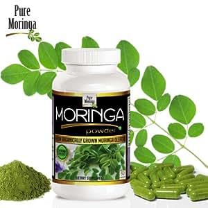Moringa Leaf Powder Capsules * Enjoy the Myriad Health Benefits of Moringa Oleifera Today * 60 Capsules