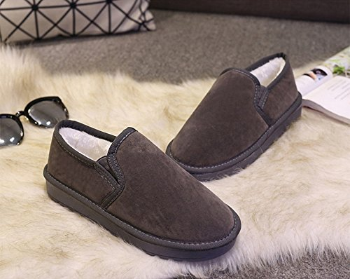 Botas de Nieve Mujer, Eagsouni® Mujer caliente Zapatos Invierno Cortas Aire Libre Antideslizante Boots Botines planos Zapatos Gris