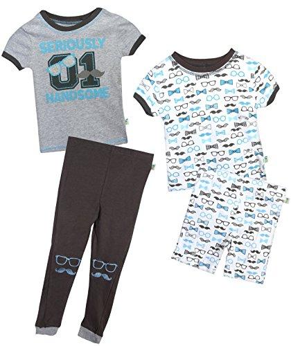 Duck Duck Goose Infant & Toddler Boys 4-Piece Snug Fit Summer Pajama Set, Handsome, 24 Months' -