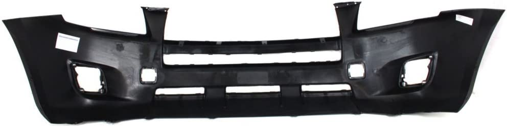Front Bumper Cover Primed Compatible with 2009-2012 Toyota RAV-4