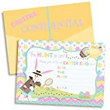 Easter Egg Hunt Detective Party Fill in Invitations set of 10 with envelopes