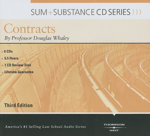 Sum and Substance Audio on Contracts by Whaley, Douglas J.