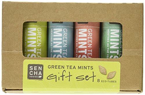 Sencha Naturals Green Tea Mints, Eco-Tubes Gift Set, 4 Flavors, 8 Pack