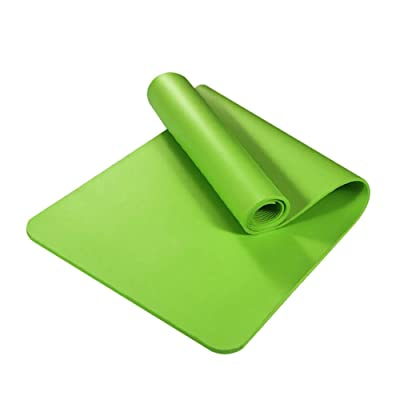 Oyov2L Anti-Slip Thicken NBR Gym Home Fitness Exercise Sports Yoga Pilates Mat Carpet Strong Buffer Effect Durable Fitness Equipment Green: Sports & Outdoors