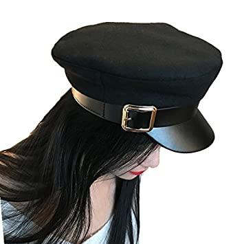 99af78e6d9b Image Unavailable. Image not available for. Color  Richo Mexico Fashion  Wool Solid Visor Military Hat ...
