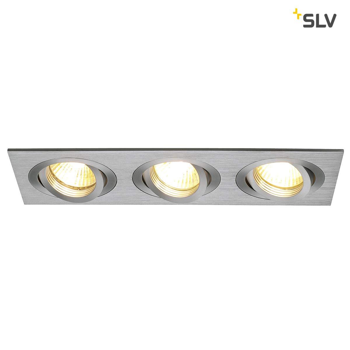 SLV NEW TRIA 3 Leuchte Indoor-Lampe Aluminium Silber Lampe innen, Innen-Lampe