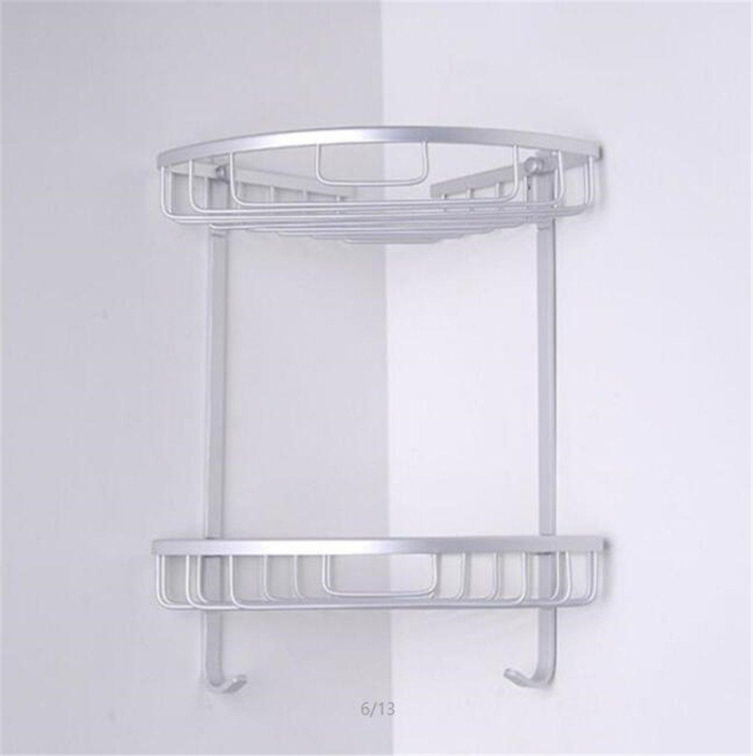 1/2/3 Layer Space Aluminum Bathroom Corner Shelf Triangular Shower Shampoo Soap Cosmetic Storage Shelves Rack Accessory Picture 2