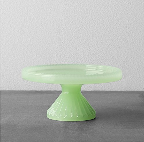 Green Glass Cake Stand Hearth Amp Hand With Magnolia Green