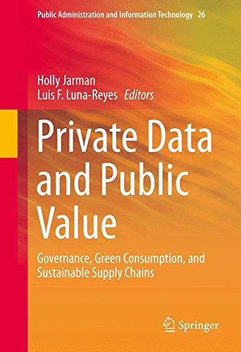 Private Data and Public Value: Governance, Green Consumption, and Sustainable Supply Chains (Public Administration and I