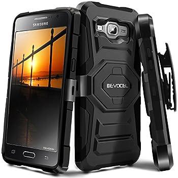 Galaxy J3 (2016) / J3 V / Express Prime Case, Evocel [New Generation] Rugged Holster Dual Layer Case [Kickstand][Belt Clip] For Samsung Galaxy J3 (J320) ...