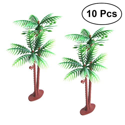 BESTOYARD Hawaii Coconut Tree Model Micro Landscape Decoration Hawaii Party Ornaments,10pcs