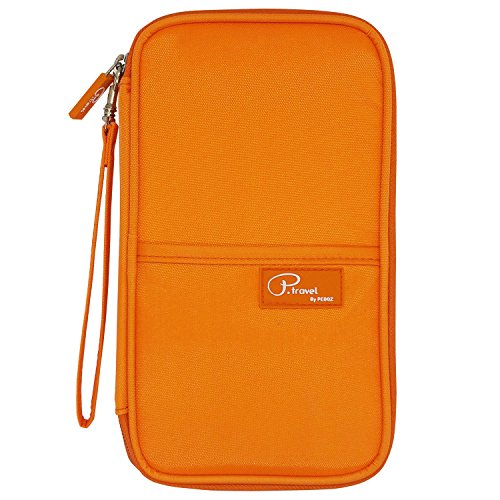 P.travel Passport wallet Oxford Orange with RFID Stop by P.travel (Image #1)